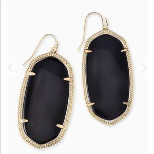 Kendra Scott Jewelry - Kendra Scott Danielle Earrings Gold Black Opaque
